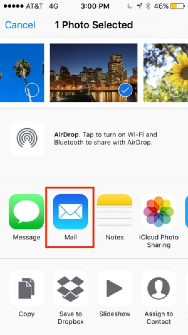 How to attach photos to emails in iOS 10