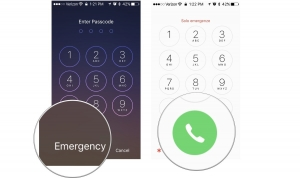 How to make an emergency call on a locked iPhone